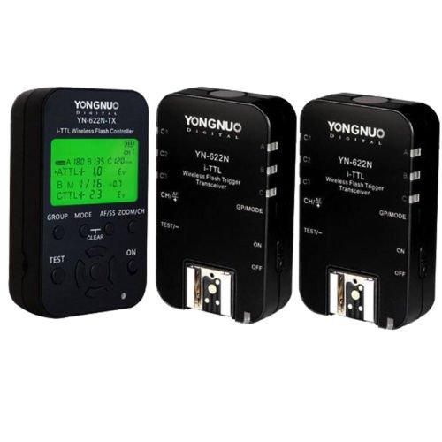 Yongnuo 1 x YN-622N-TX + 2 x YN-622N RX i-TTL LCD Wireless Flash Controller Wireless Flash Trigger Transceiver For Nikon D70 D70S D80 D90 D200 D300S D600 D700 D800 D3000 D3100 D3200 D5000 D5100 D5200 D5300 D7000 D7100