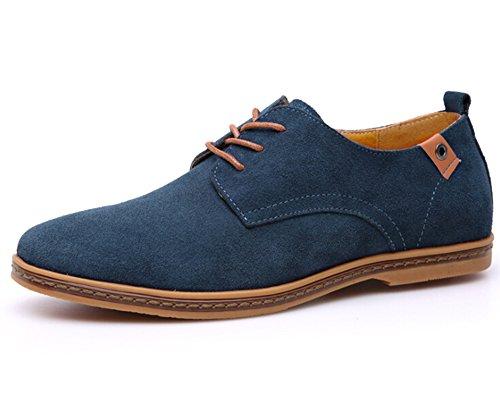 fanselatm-mens-pu-leather-suede-lace-up-platform-shoes-size-11-blue