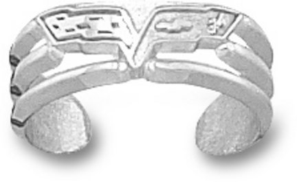 Chevy Corvette C-6 Logo Toe Ring - Sterling Silver Jewelry