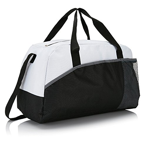 XD-Borsone da Sport, grande formato, 44 cm, 30 L, colore: bianco