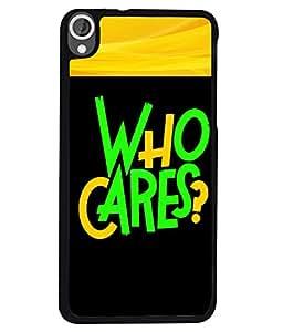 Fuson 2D Printed Quotes Designer back case cover for HTC Desire 820 - D4343
