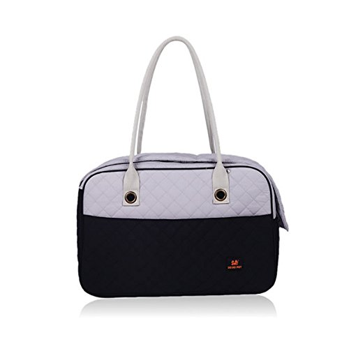 CONTRAST COLOR Doggie Puppy Carriers Travel Bag Cat Carrier Handbag / Soft Sided Travel Dog and Cat Pet Carrier Tote Hand Bag + B&P Shoes Bag