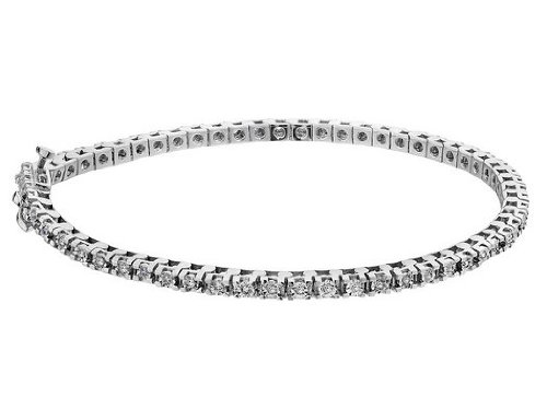 Diamond Tennis Bracelet 1/2 Carat (ctw) in Sterling