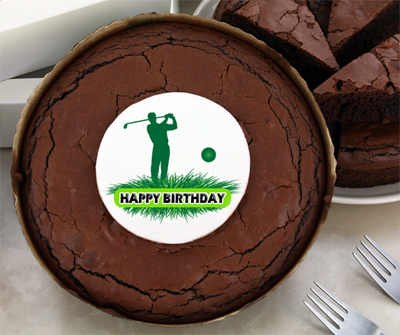 Birthday Brownie Cake - Golf