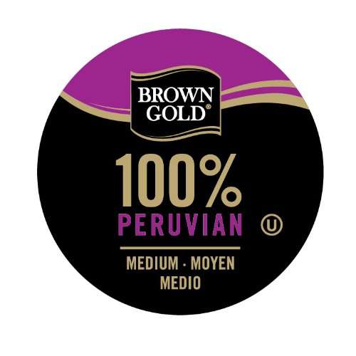 Brown Gold 100% Coffee Capsules for Keurig K-Cup Brewers Peruvian 48-count