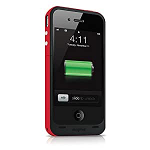 Mophie Juice Pack Plus Batterie Case für Apple iPhone 4/4S rot