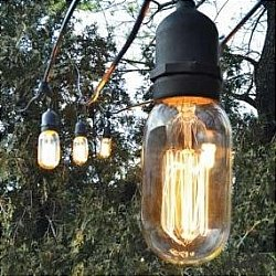 Bulbrite String15/E26 Outdoor String Light with 15 Light Sockets, 48-Feet