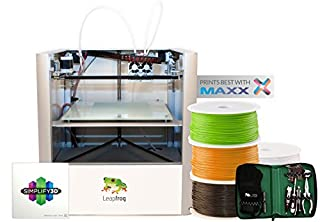 Leapfrog Creatr 3D Printer Starter Package, Single Extruder, 200 x 270 x 230 mm Maximum Build Dimensions 0.05-mm Maximum Resolution; ABS, Laybrick, Nylon, PLA, and PVA Filament