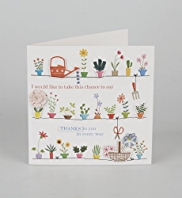Thank You Flower Pots Greeting Card