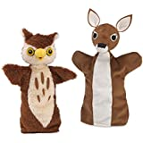 Animal Hand Puppets, Set Of 2