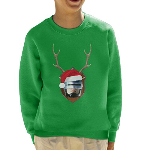 robocop-christmas-antler-head-kids-sweatshirt