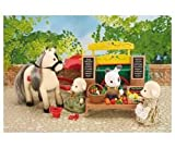Accessories for heroines -Sylvanian Families Farmer's Stand and Pony - 2785 2785 (This Sylvanian Families 2785 farmer's stand and pony play ser contains a wonderful selection of fruit and vegetables from the farm.The cart is drawn by a pony and comes com