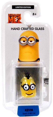 Despicable Me 2 Glassworld minion Hand Crafted Glass - Kevin