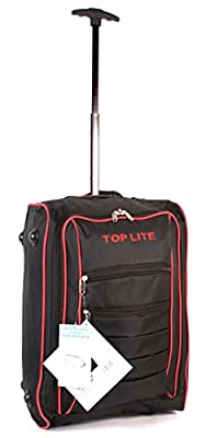 CABIN-WB-01 BLACK RED Two Wheeled Light Cabin Suitcase Hand Luggage Flight Travel Bag