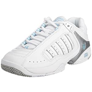 K-Swiss Women's Defier RS Trainer White/Blue Heaven Silver 91033-163-M 5 UK