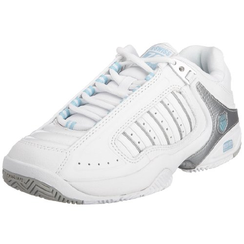 K-Swiss Women's Defier RS Trainer White/Blue Heaven Silver 91033-163-M 4 UK
