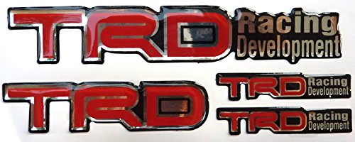 Toyota TRD Set Resin Sticker Decals Center Wheel Caps Cover Hub Rim Racing Development (Trd Resin compare prices)