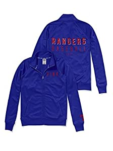 Victoria's Secret PINK Texas Rangers Track Jacket Medium Blue