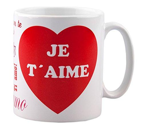 Mug Je t'aime - cadeau pour homme ou femme