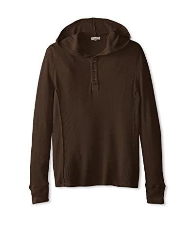 Mod-O-Doc Men's Cotton/Modal Thermal Henley Hoodie