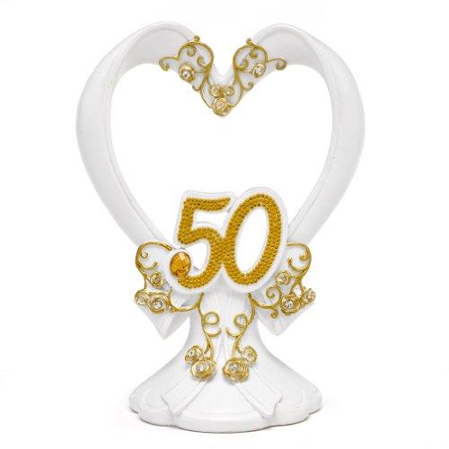 Hortense B. Hewitt Gilded 50th Anniversary Cake Top Wedding Accessories