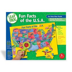 LeapFrog: Fun Facts of the U.S.A. Floor Puzzle with Decoder - 1