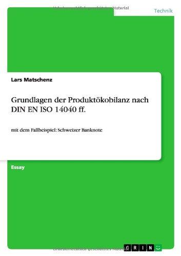 Grundlagen Der Produktokobilanz Nach Din En Iso 14040 Ff. (German Edition)