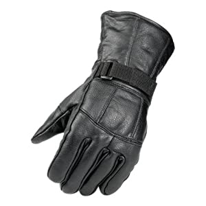 Raider Black Medium Leather Motorcycle Riding Gloves