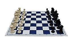 Shopaholic World Champions Chess Set With Rollable Matt Board (IVORY & BLACK)