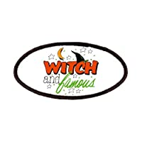 Patch of Halloween Witch and Famous with Witch Hat by Artsmith Inc
