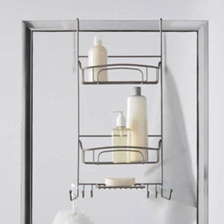 Shower Door Caddy, Satin Nickel (Best Shower Caddy compare prices)
