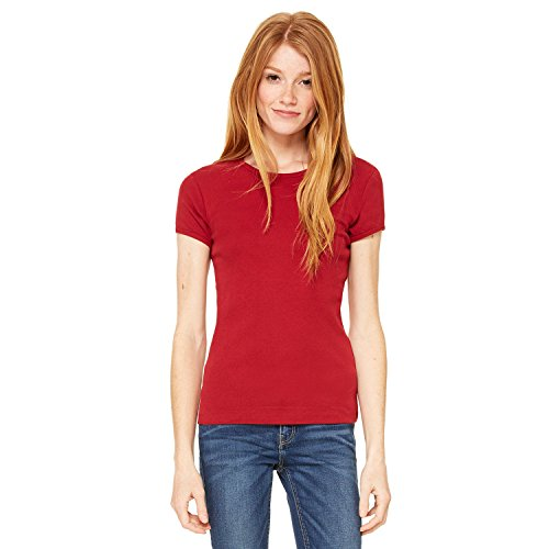 Bella 1001 Ladies Baby Rib Short-Sleeve T-Shirt - Cardinal 1001 M