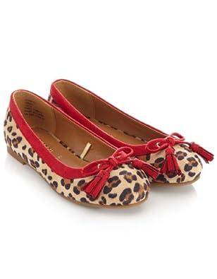 Monsoon Filles Ballerines motif léopard ornées d'un nœud à pampilles Taille Chaussures 24 Multicolore