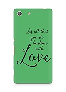 AMEZ let all that you do be done with love Back Cover For Sony Xperia M5