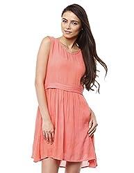 Prym Women's Cheesecloth T-Shirt Dress (1011508902_Peach_Large)