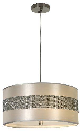 B005MZLSR2 Trend Lighting BP9709 Harmony Pendant, Metallic Silver Finish