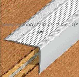 Step Aluminium Stair Edge Nosing For LaminateWoodCarpet