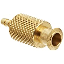 Female Luer Lock Fitting to Tube Brass Tube ID 1/4&#034; .260&#034; Barb OD