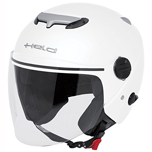 Motorcycle Held Jet Helmet City Scape 7470 White S UK