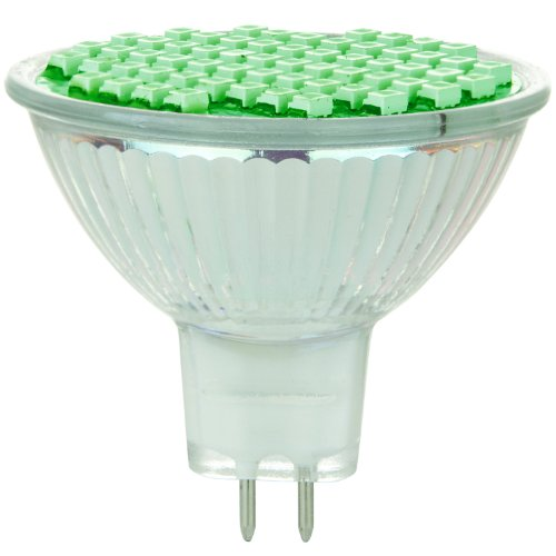 Sunlite 80308-Su Mr16/60Led/2W/Gu5.3/12V/G Led 12-Volt 2-Watt Gu5.3 Based Mr16 Lamp, Green