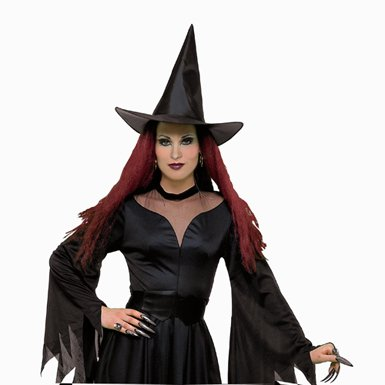 Adult Witch Hat Womens Sorceress Halloween Accessories