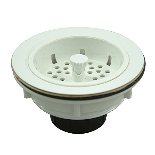 Kingston Brass BSP1011  ABS Construction Kitchen Sink Strainer, 4-5/16-Inch Diameter, White
