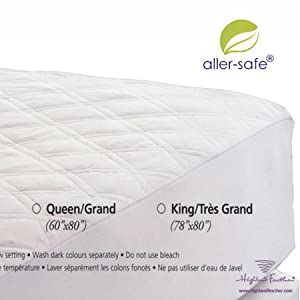 Full/Double Extra-long Size Waterproof Mattress Pad 54x80+17''- 200TC Platinum Collection