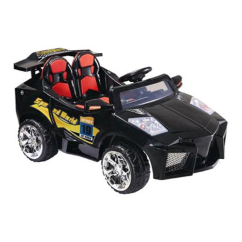 Mini Motos Black 12 Volt Super Car Riding Toy