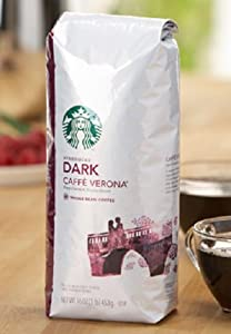 Starbucks Whole Bean Coffee, Decaffeinated Caffe Verona, 16-Ounce Bags (Pack of 2) from Starbucks