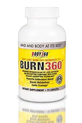 Burn360 All Natural Fat Burner, 72 Count