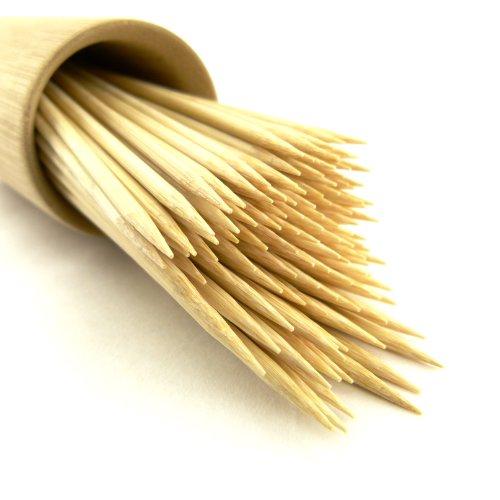 """Bamboomn Brand Premium Round Bamboo Skewers 4.1"""" X 3Mm - 1,000Pc"""