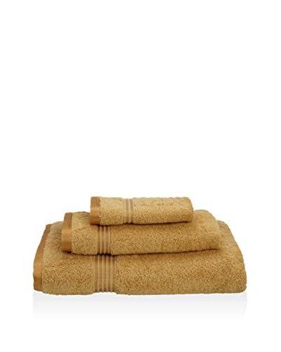 Superior 3-Piece 600 GSM Egyptian Cotton Towel Set, Gold