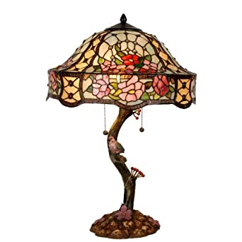 tiffany style table lamp gift of nature 46x74cm. Black Bedroom Furniture Sets. Home Design Ideas
