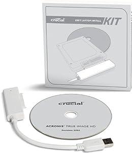 Crucial CTLAPINSTALLAC - Caja de disco duro, blanco  Informática Comentarios de clientes y más información